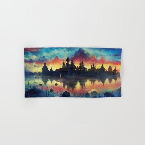 Watercolor landscape #reflection Hand & Bath Towel