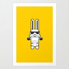 Sr. Trolo / Stormtropper Yellow Art Print
