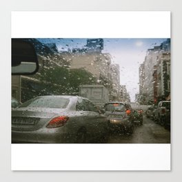 Cape Town traffic on a rainy day Canvas Print