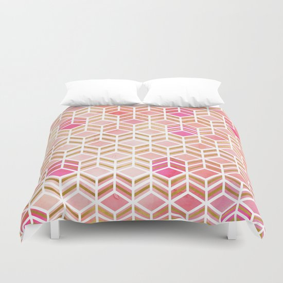 TAKE THE CAKE - CORAL Duvet Cover