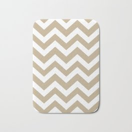 Khaki (HTML/CSS) (Khaki) - grey color - Zigzag Chevron Pattern Bath Mat