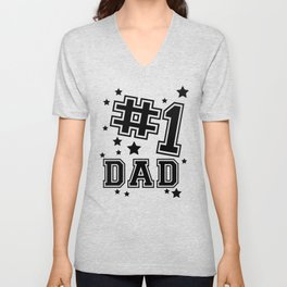 Fathers Day Gifts Number 1 Dad Gifts for Dad that Ship Unisex V-Neck