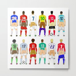 Soccer Butts Metal Print
