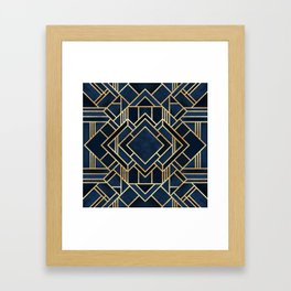 Art Deco Fancy Blue Framed Art Print