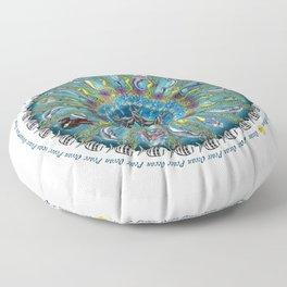 Ocean Peace Mandala Floor Pillow