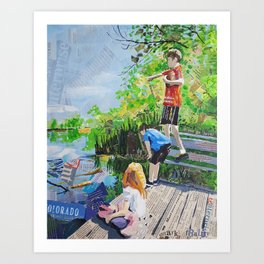 Broomfield days Art Print