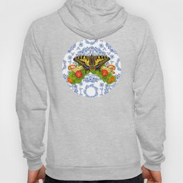 Swallowtail Butterfly and Blue Rhapsody Hoody