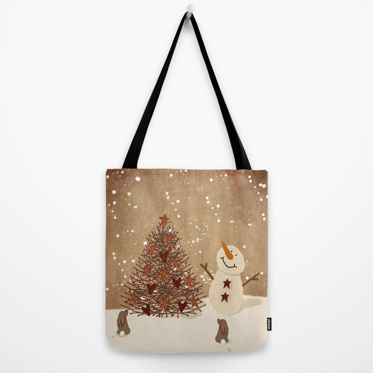 Christmas Tree Bags.Primitive Country Christmas Tree Tote Bag