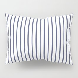 Posey Violet Thin Pinstripe on White Pillow Sham