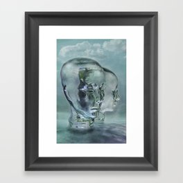Glasmensch im Internet Framed Art Print