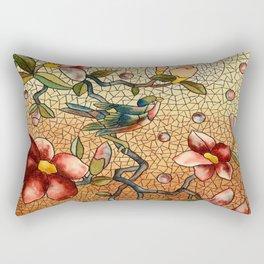 Vintage Stain Glass Rectangular Pillow
