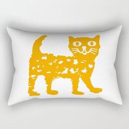 Orange cat illustration, cat pattern Rectangular Pillow
