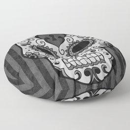 Día de los Muertos - Grey Floor Pillow