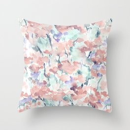 Divine Feminine Pale Coral Throw Pillow