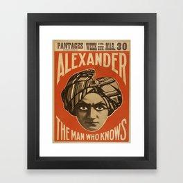Vintage poster - Alexander, The Man Who Knows Framed Art Print