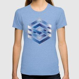 Floating Geometry :: Winter Hexagon T-shirt