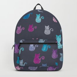 Cats pattern blue pink purple lilac Backpack