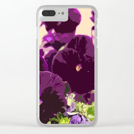 Pansies Clear iPhone Case