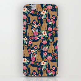 Brussels Griffon florals pattern for dog lovers custom pet friendly gifts for all dog breeds iPhone Skin