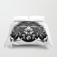 demon Duvet Covers featuring Demon by MIRKOW GASTOW