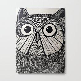 Owl in Pen #3 Metal Print