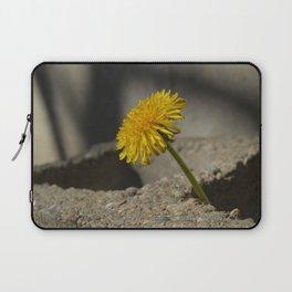 Dandelion That Grew From Concrete Laptop Sleeve