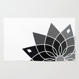 Gray flower Rug
