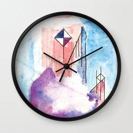 Color Poles Wall Clock