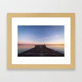 Sunset On The Dock Framed Art Print