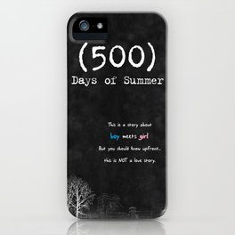 500 Days of Summer iPhone Case