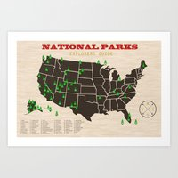parks Art Prints featuring National Parks by thebeardedman