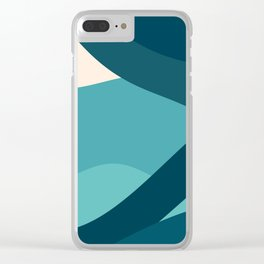 swell ocean and teal Clear iPhone Case