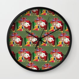 Chistmas sheeps Wall Clock