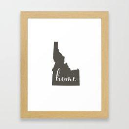 Idaho is Home Framed Art Print