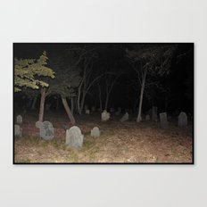Cemetery Forest Canvas Print