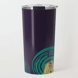 Adorned Salad Forest in Midnight Blue, Teal and Yellow  Travel Mug