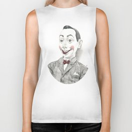 """Portrait of Pee-wee Herman"" Biker Tank"