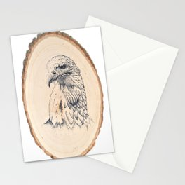 Eagle on Wood Stationery Cards