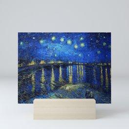 Starry Night Over the Rhone by Vincent van Gogh Mini Art Print