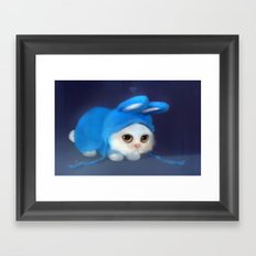 Team Bunny Framed Art Print