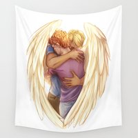 hug Wall Tapestries featuring Hug by laya rose