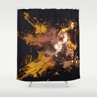 football Shower Curtains featuring Football by Frauste
