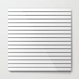 Minimal Stripes Metal Print
