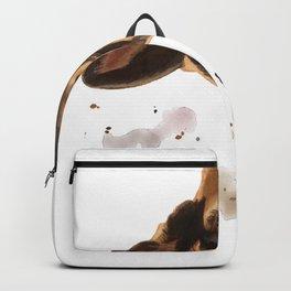 Curious German Shepherd Dog Backpack