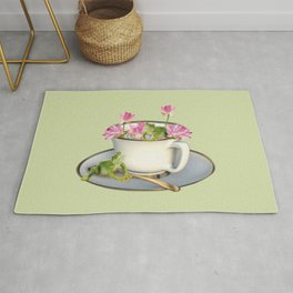 Cup with Lotos Flowers and two Frogs Rug