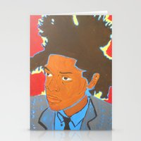basquiat Stationery Cards featuring Basquiat by Justice Dwight