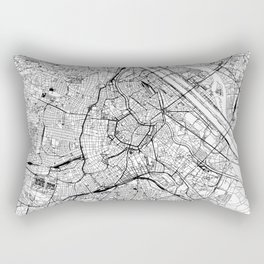 Vienna White Map Rectangular Pillow