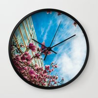 dc Wall Clocks featuring DC Blooms! by Ashley Hirst Photography