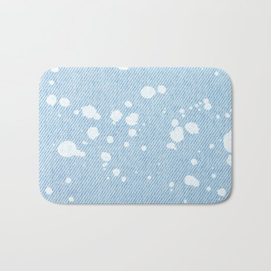 Stained jeans texture Bath Mat