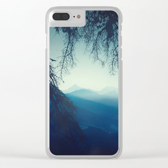 blue morning - vertical tapestry Clear iPhone Case